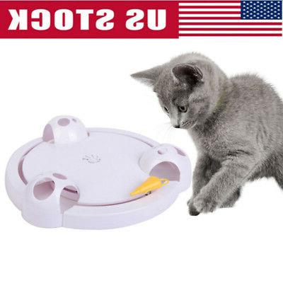 interactive cat toy rotating mouse hide