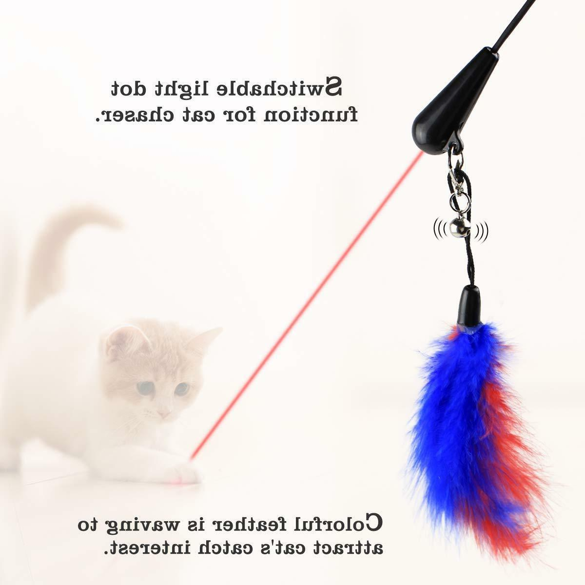 Interactive Toys Cats Chaser and Feather for Cats Dogs