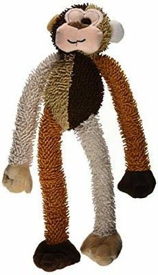 Multipet International Multicrew Monkey Plush Dog Toy, 17-In