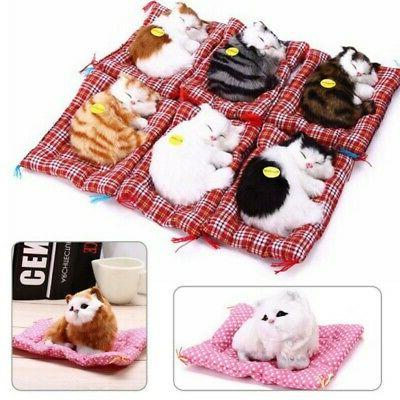 Cat Simulation Animal Toys Doll Plush Gift