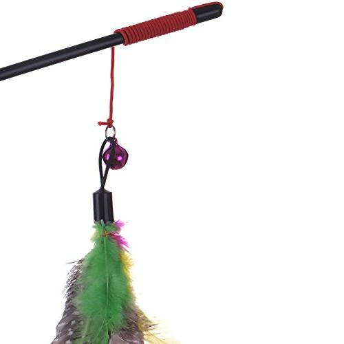 Yunt Interactive Toy Rod Wire Chaser with Bell and