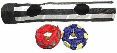 kitty cat pet play tunnel with hanging