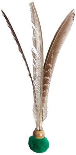 Go Cat Kitty Kopter Cat Toy, Throw Toy with Feathers That Sp