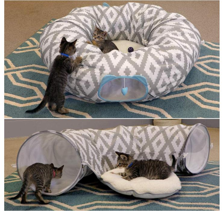 Large Cat Tunnel bed Toys