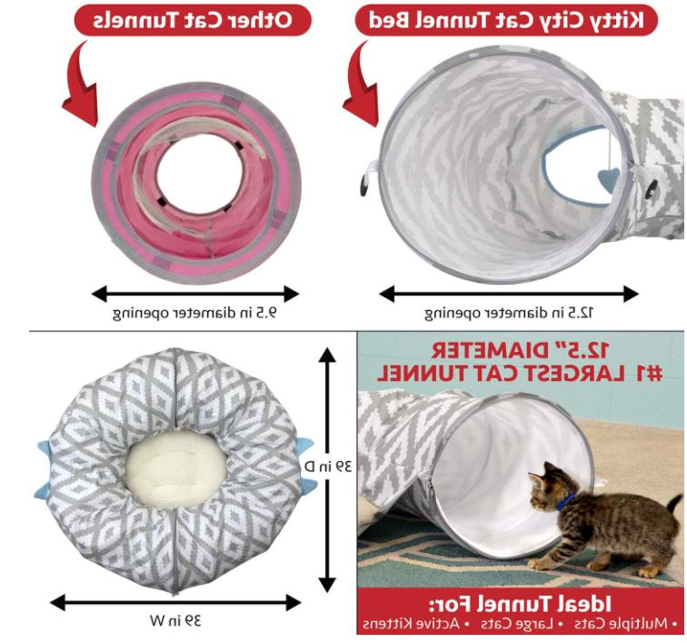 Large Tunnel Cat Bed Pop Up