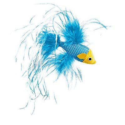 leaps and bounds feathered fish cat toy