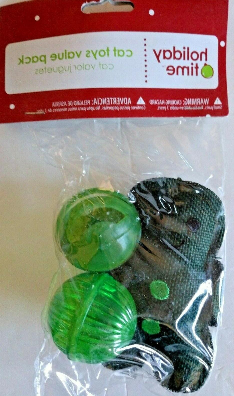 LOT TOYS MAN, MOUSE, CAT BUNGEE, GREEN 3 PACKS