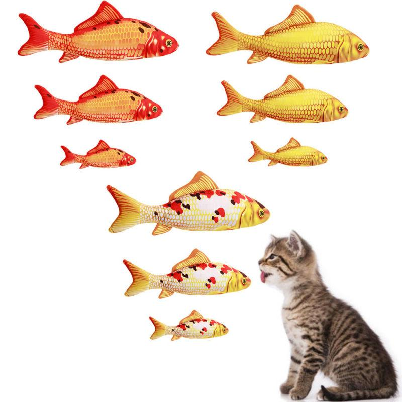 Cat Toys Simulation Plush Fish Pet Pillow Catnip Chew Bite C