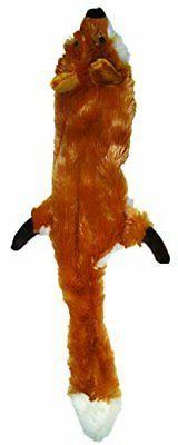 Ethical Pets Plush Skinneeez Fox 14-Inch Stuffingless Dog an