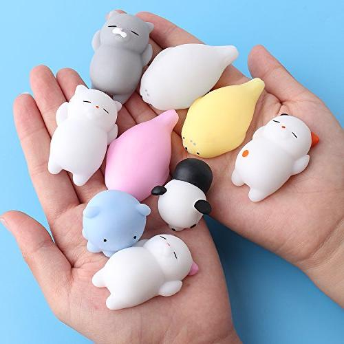 Outee Toys, Animal Mochi Cat Cat Toys Stress Mini Squishies