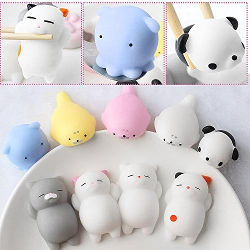 Outee Mochi Toys, Squishy Animal Stress Toys Mochi Cat Squishy Toys Mini