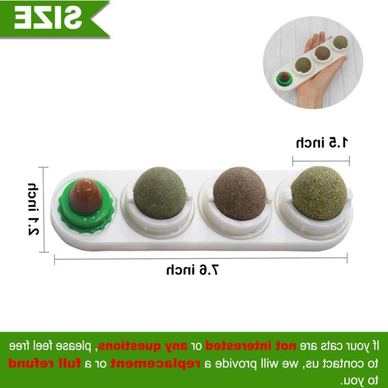 Natural Rotatable Balls Treats Catnip