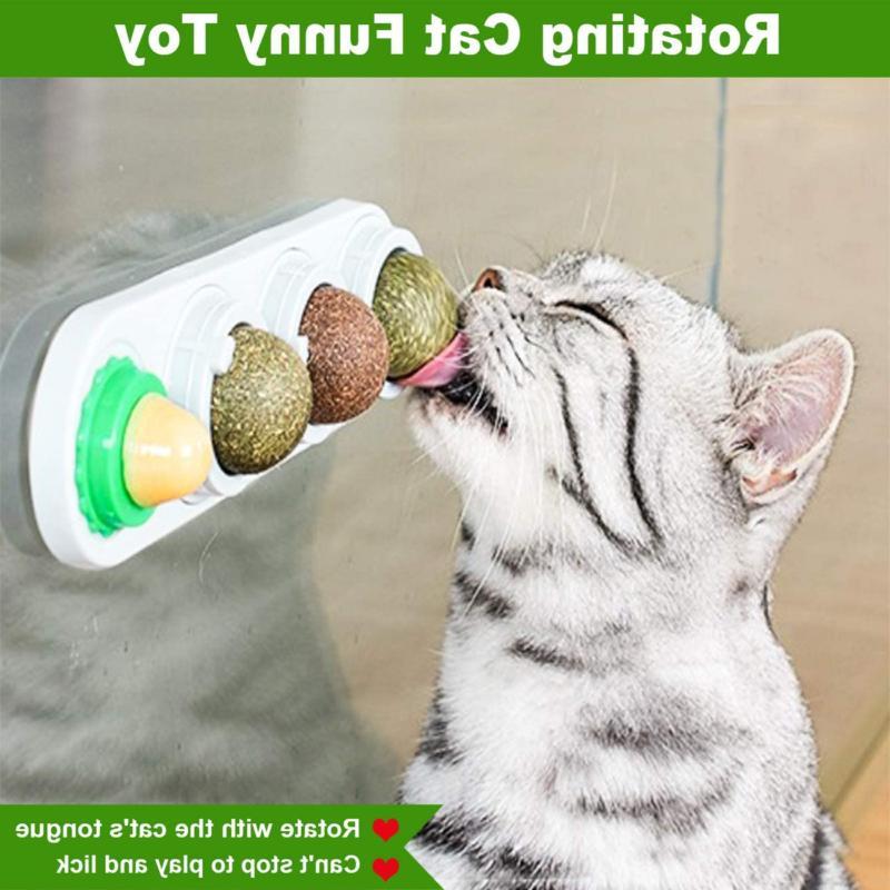 Natural Rotatable Balls Licking Catnip