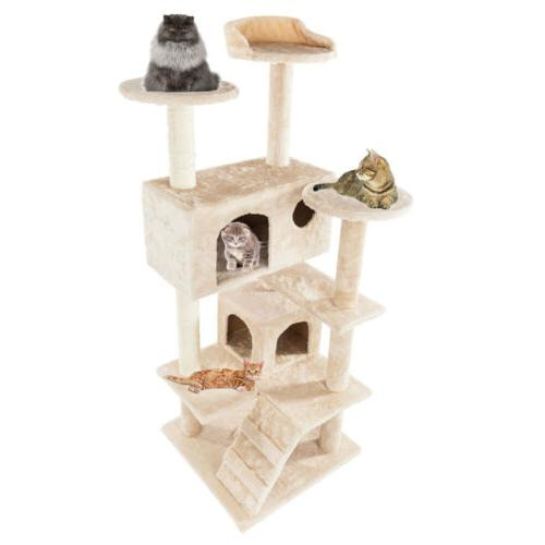 New Tree Condo Scratch Post Play House Home Hammock Tower