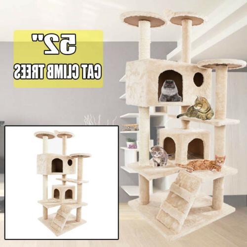 new 52 cat tree condo scratch post
