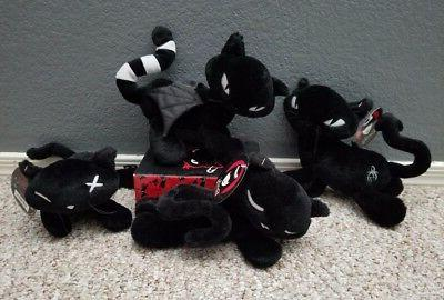 new 8inch stuffed plush toy doll black