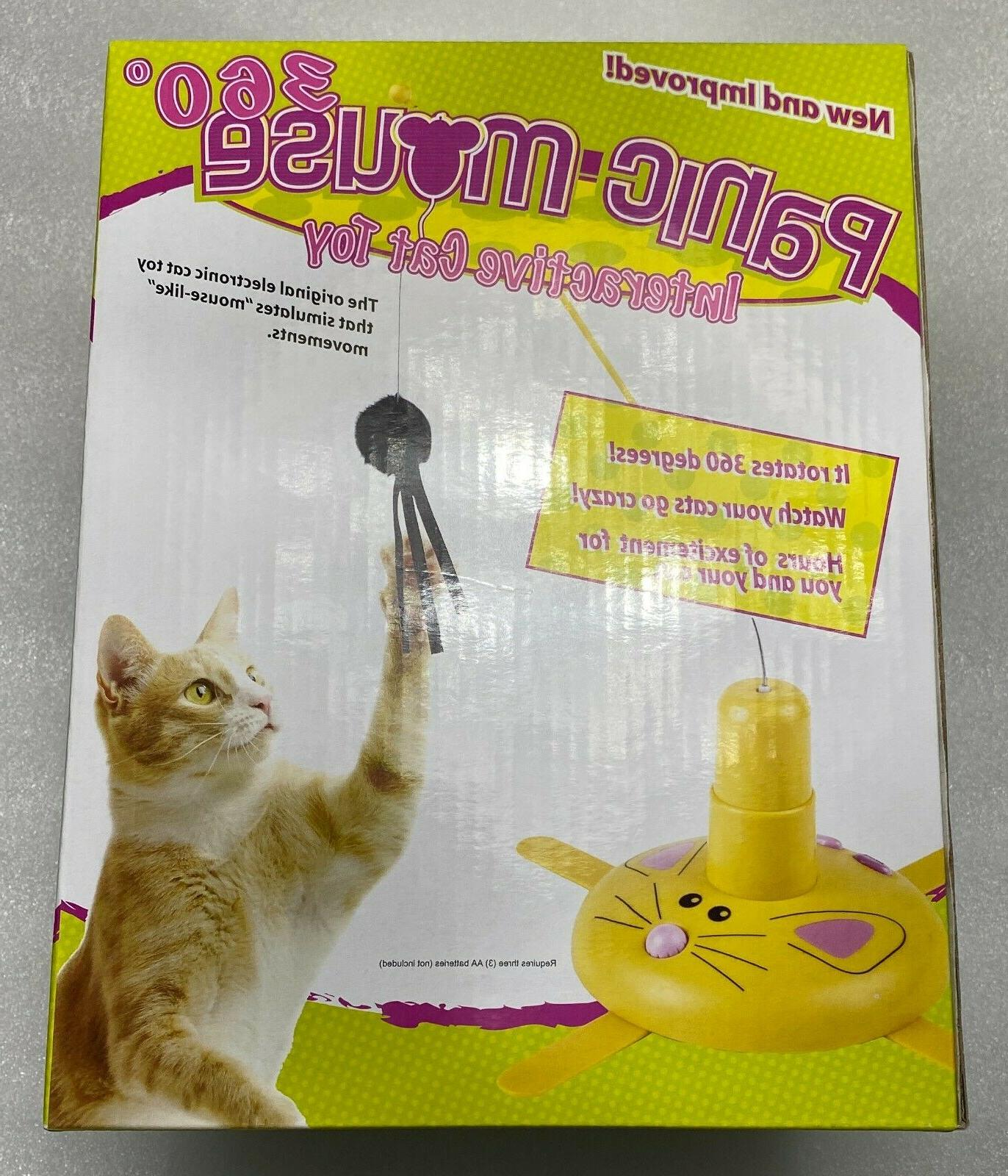 NEW PANIC MOUSE 360 ELECTRONIC CAT MOUSE-LIKE