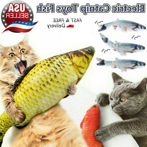 Electric Wagging Fish Cat Simulation Fish Catnipmint