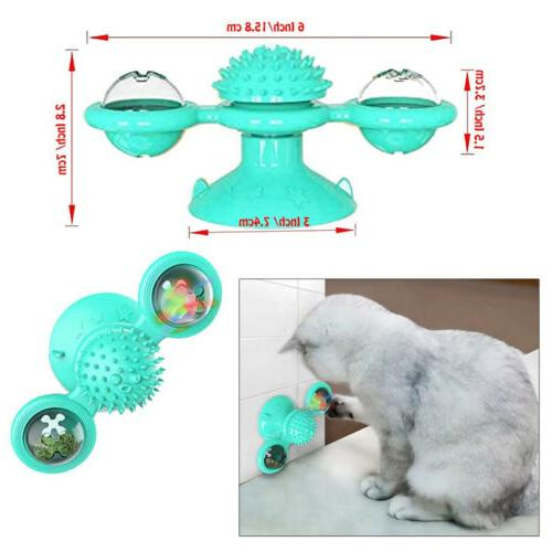 New Windmill Cat Toys Fidget Spinner for Kitten with and Ball USA