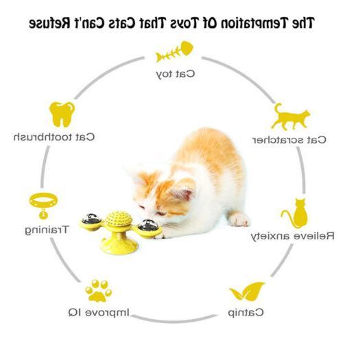 New Windmill Cat Fidget Spinner for Kitten with LED Ball