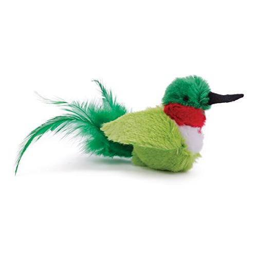 OurPets Play-N-Squeak Real Birds Buzz Off Interactive Cat To