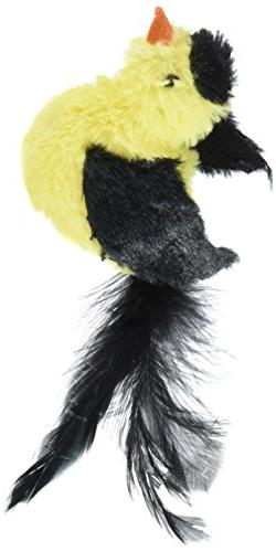 OurPets Play-N-Squeak Real Birds Pittsbird Interactive Cat T
