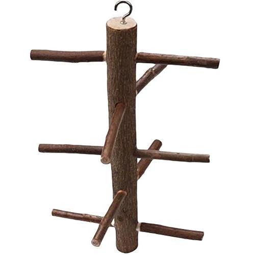 parrot wood bark rotating ladder