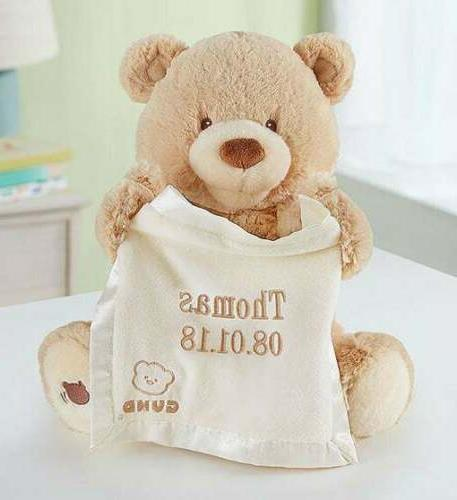 Personalized Gund Peek A Boo Bear-Customized Teddy Animated