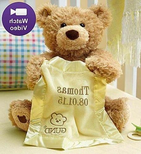 Personalized Gund® Peek A Boo Teddy Bear-Customized Animate