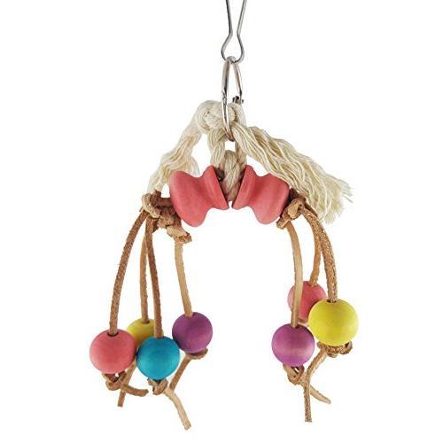 pet bird parrot toys cowhide