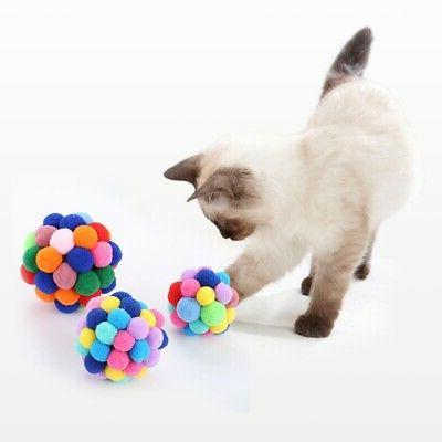Pet Cat Elastic Ball Toy  Training Toy Colorful Exercise Bal