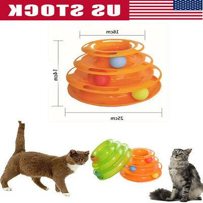 pet cat crazy ball disk interactive toys