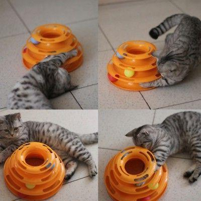 Pet Interactive Turntable Tower Cat Toy US