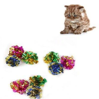 12pcs Crinkle Balls Kitten Mylar
