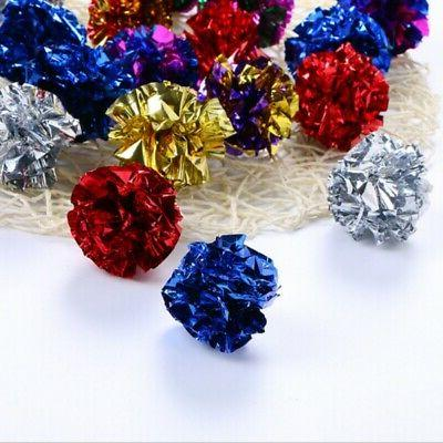Pet Crinkle Foil Ball Dog Toy