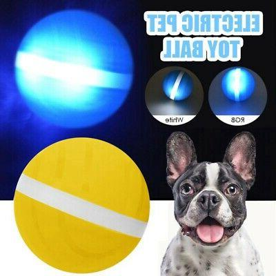 1X Pet LED Rolling Interactive Jump Toy Ball Elastic Ball Pu