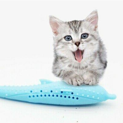 1PCS Pet Kitten Cat Fish Shape Mint Catnip Chewing Play Catn