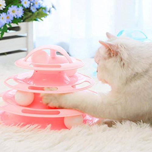 Yunt Toy Smart Track Funny Cats Toys Tower