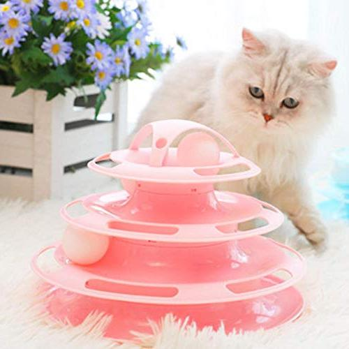 Yunt Pet Toy Four-Layer Turntable Smart Cats Toys Ball