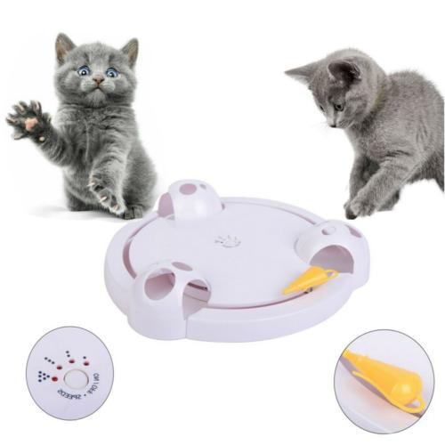 pet cat interactive toy rotating rat hide