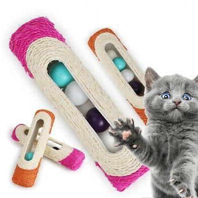 Pet Rolling Sisal Scratching 3 Toys USA