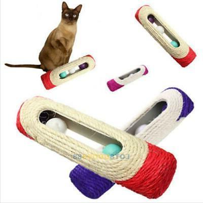 Pet Cat Kitty Rolling Sisal 3 Toys