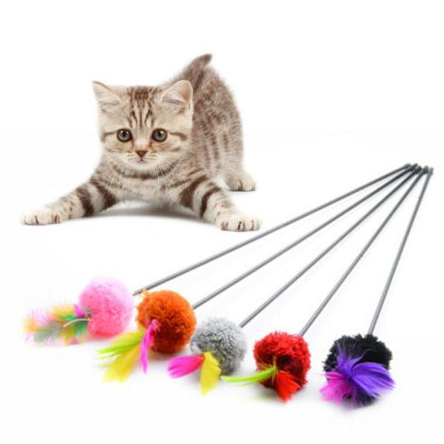 Pet Cat Mouse Teaser Wand Rod Cat Toys Interactive