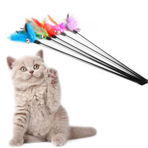 Pet Kitten Toy Mouse Teaser Wand Rod Cat Play Toys Interactive