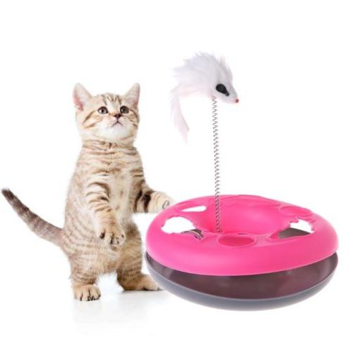 Pet Spring Ball Turntable Disk Interactive