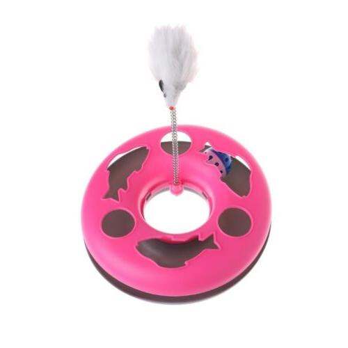 Pet Cat Mouse Spring Disk Training