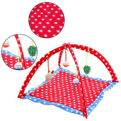 Pet Bed Activity Playing Toy Exercise Kitten Pad Bells