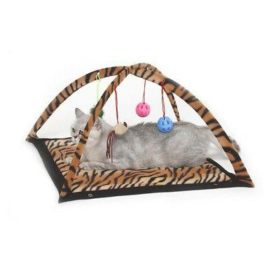 Pet Play Activity Tent Playing Exercise Bells