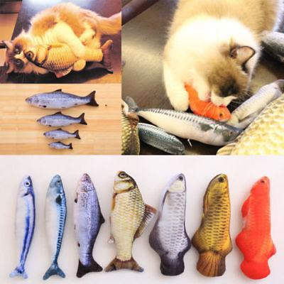 pet cat play fish shape mint catnip