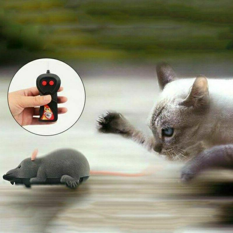 Funny Remote Control RC Rat Mouse MICE Wireless For Cat Dog
